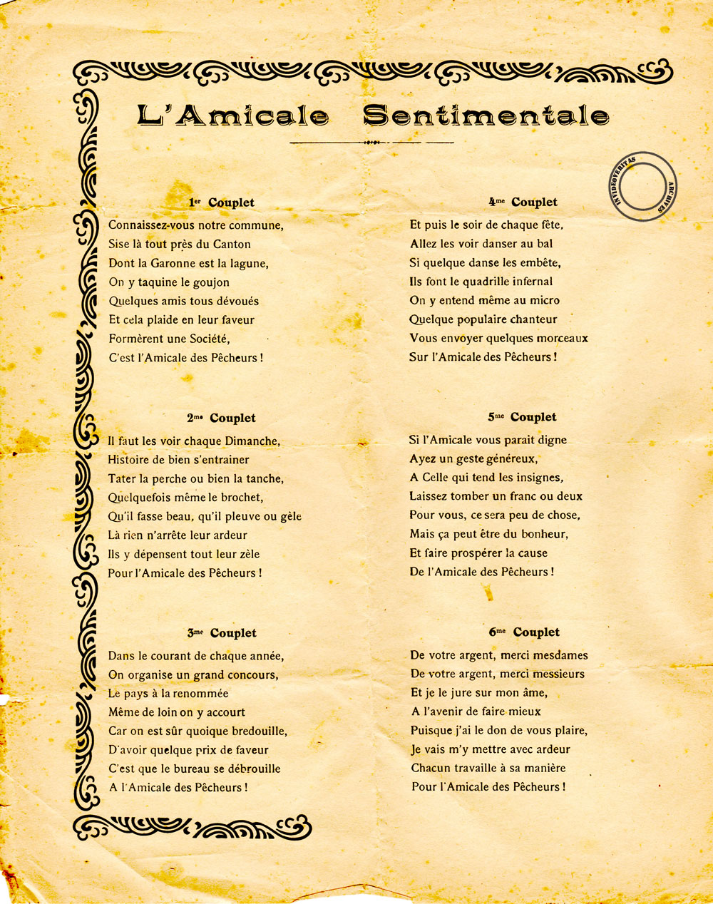 20 L'amicale Sentimentale